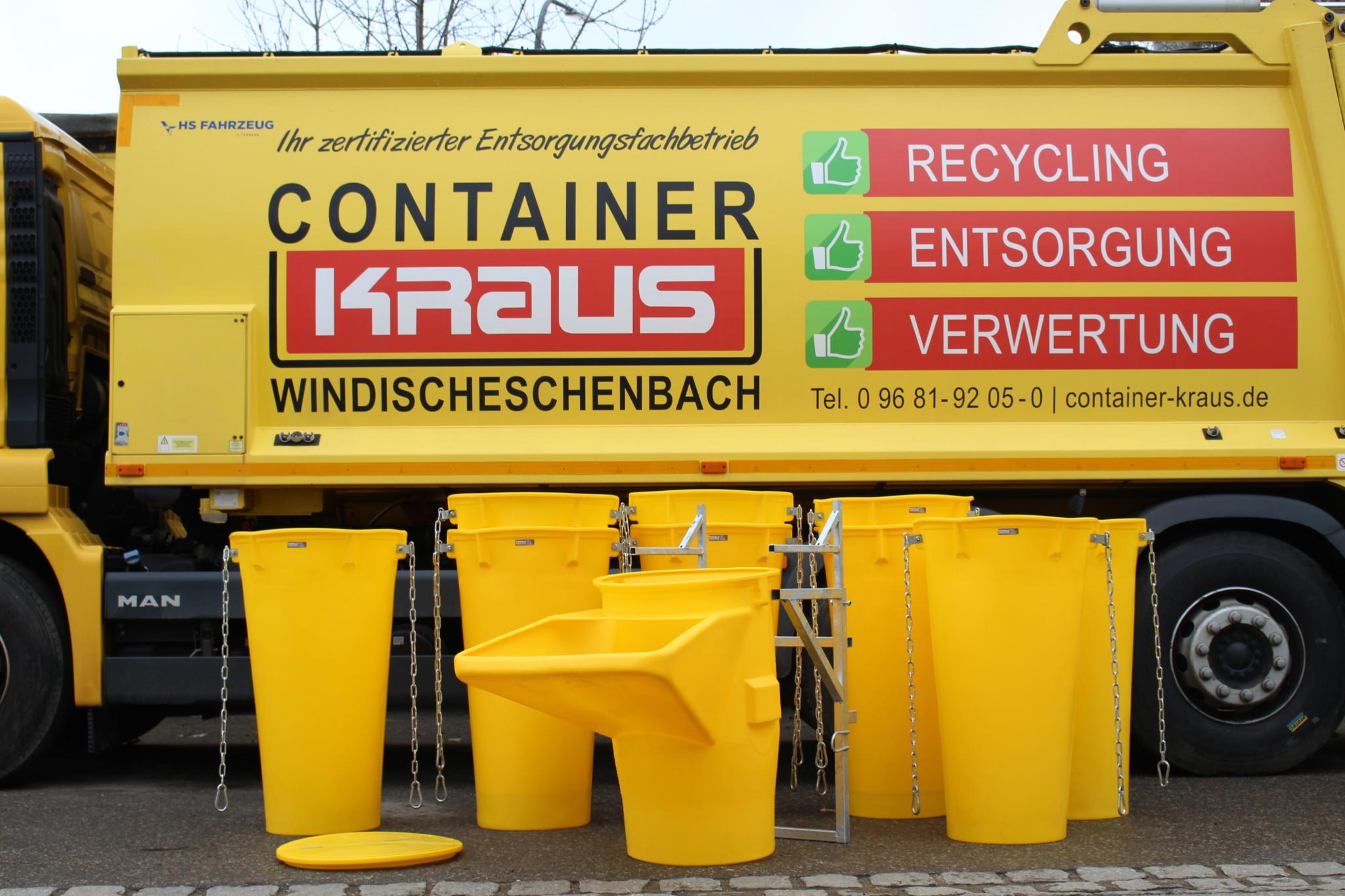 Container Kraus Bauschuttrutsche